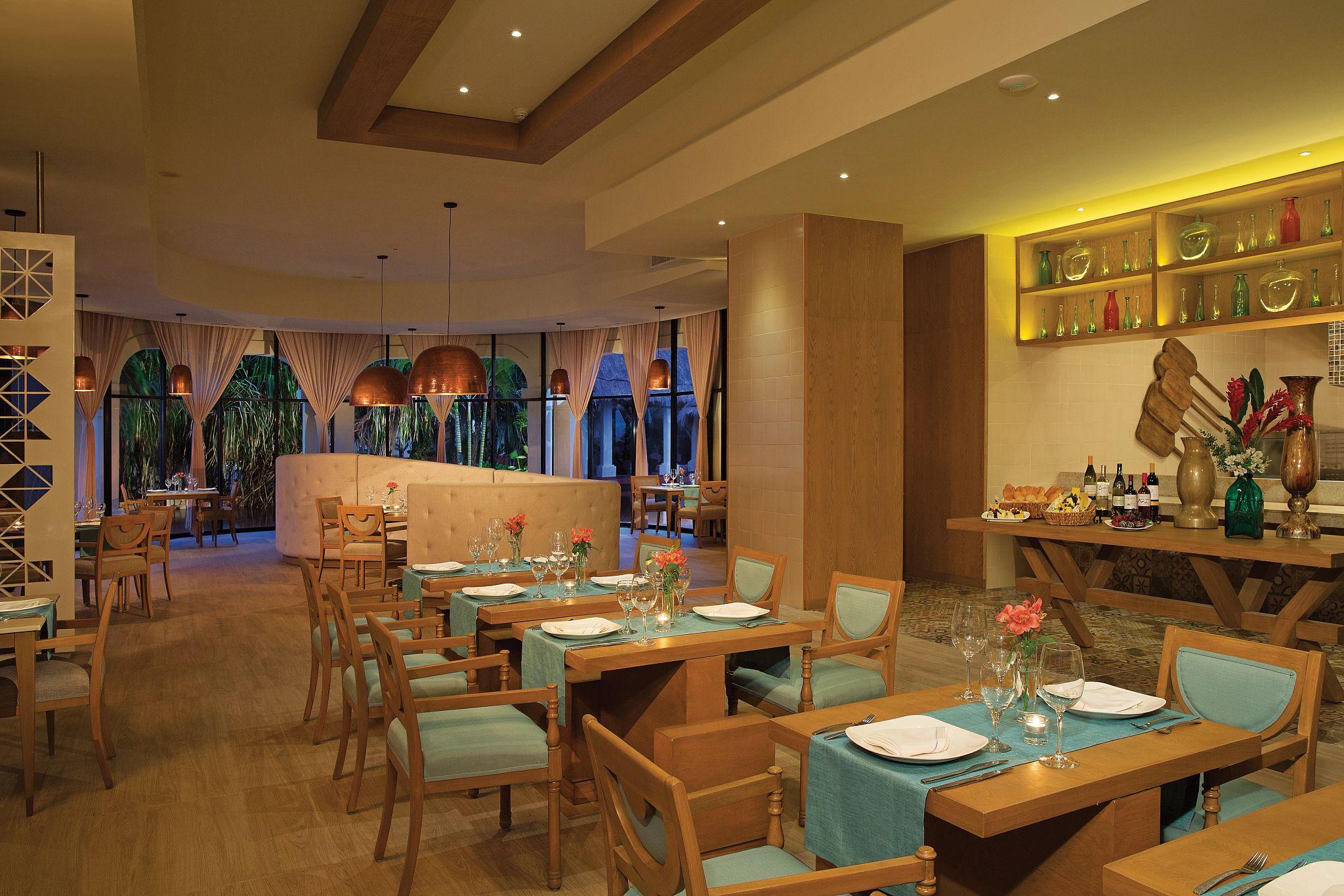 interior of a mediterranean restaurant
