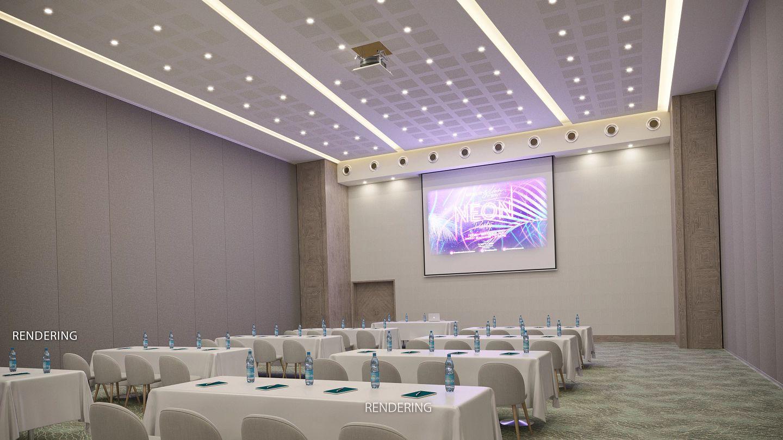 computer rendering of a meeting room