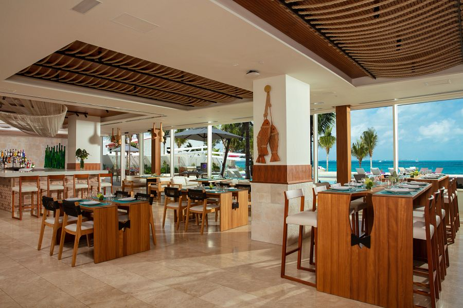 computer rendering of a seafood restaurant